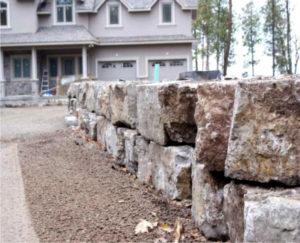 retaining wall, Rock Wall