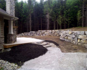 retaining wall, walkways